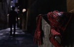 Peter Parker throws away his Spider-Man costume at a pivotal point in Spider-Man 2.