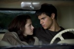 Bella realizes she could be happy with Jacob after Edward leaves her in New Moon.