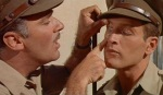 A British officer can't spot a Jew, even when staring one right in the eye in 1960's Exodus.