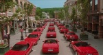 Mr. Deeds gives back to everyone he knows by buying them all Corvettes.