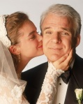 Steve Martin's character is miserable spending so much money on what should be a simple wedding in Father of the Bride.