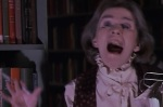 A librarian is scared by a ghost at the start of Ghostbusters.