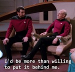 If only everyone cleared of rape allegations could be as lucky as Riker to put a few light years between himself and his false accuser.