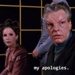 The investigator apologizes to Riker after learning the truth about Dr. Apgar's death.