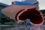 The shark still looks fake, even in a 3D version of Jaws.