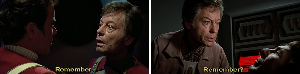 McCoy asks Kirk and Spock to remember what they need to do.