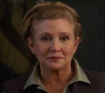 Leia is back, older and wiser, in Star Wars The Force Awakens.
