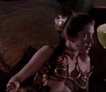 Princess Leia gets into a more exposed costume in Return of the Jedi.