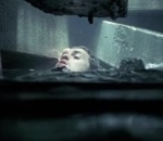 Will Turner nearly drowns as his ship sinks.
