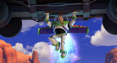 In Toy Story 3, Buzz prevents trainwrecks.