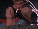 Superman fights Nuclear Man on the Moon in Superman IV.