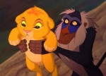 Simba is held up because of his birth in The Lion King.
