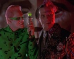 The scene in Batman Forever where Two-Face meets the Riddler has a lot of subtle subtext.