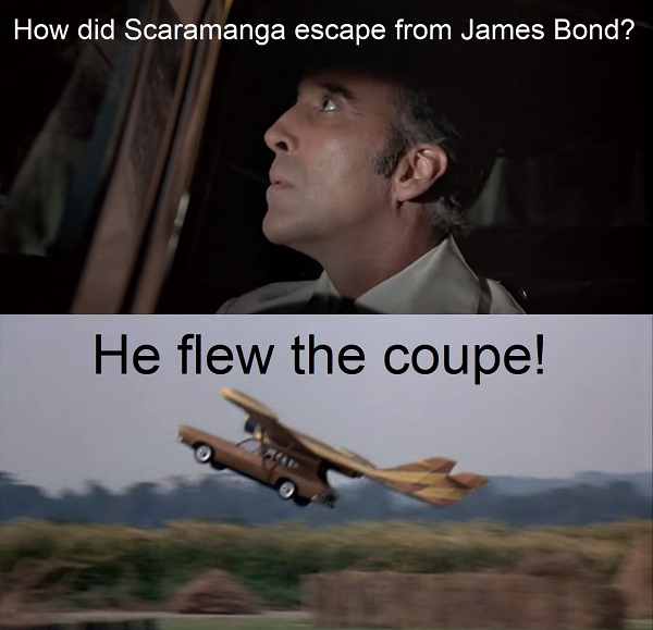 How did Francisco Scaramanga get away from James Bond?