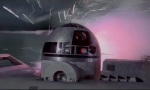 Artoo gets damaged during the Battle of Yavin.