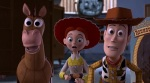 Woody, Jessie, and Bullseye realize the Prospector is out of his box.
