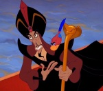 Jafar pretends to be a trusted advisor to the sultan, but secretly he schemes to take the sultan's glory for himself.