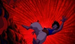 There is even a literal fall of man when Aladdin is knocked down a high cliff by Jafar and buried in the cave.